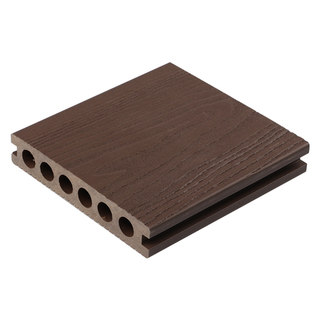 140x25mm 3D Embossed Hollow Wood Plastic Composite Decking Board
