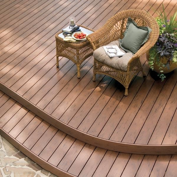 140x25mm Durable Round Hollow Composite Decking