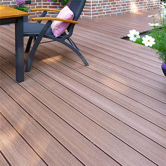 140x20mm Anti-UV Solid WPC Decking Backyard Deck